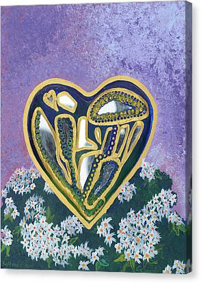 Softened Heart Best Reflections Energy Collection Canvas Print by Catt Kyriacou
