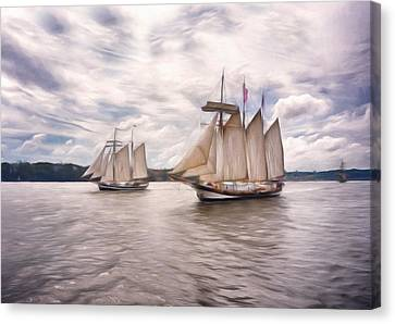Softly Sailing Canvas Print by Georgiana Romanovna