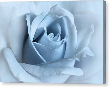 Softness Of A Blue Rose Flower Canvas Print by Jennie Marie Schell