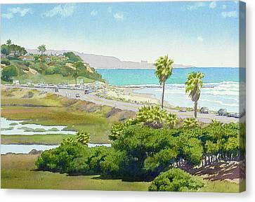 Solana Beach California Canvas Print by Mary Helmreich