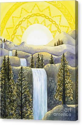 Solar Plexus Chakra Canvas Print by Catherine G McElroy