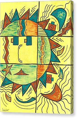 Solar Southwest Canvas Print by Susie WEBER