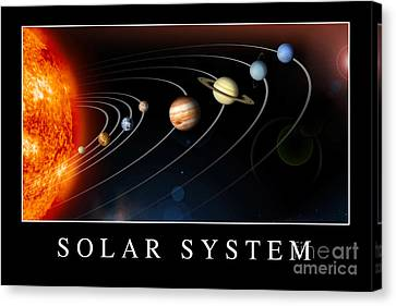 Solar System Poster Canvas Print by Stocktrek Images