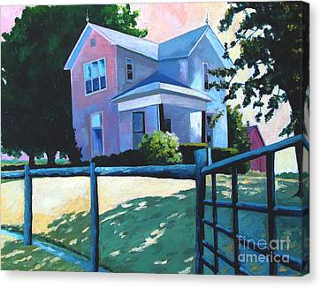 Sold Childhood Home Comissioned Work Canvas Print by Charlie Spear