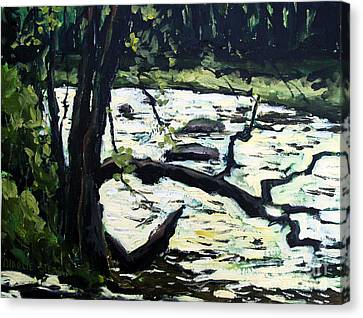 Sold Eel River From The Sandbar Canvas Print by Charlie Spear