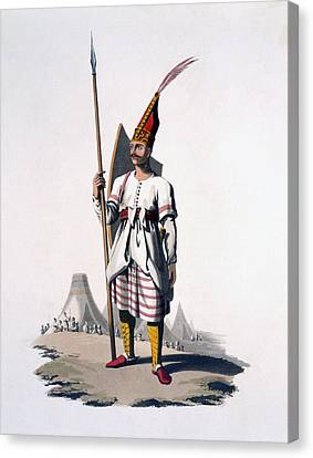 Soldier Of Albania, An Infantryman Canvas Print by English School