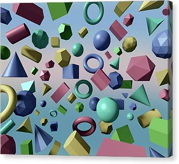 Solid Geometry Canvas Print by Robert Brook
