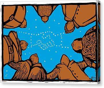 Solidarity In Stars Canvas Print by Ricardo Levins Morales