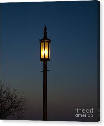 Solitary Gas Light Canvas Print by Tim Mulina