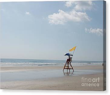 Solitary Watch Man Canvas Print by Audrey Peaty