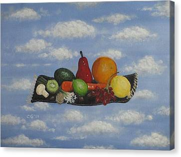 Solomon's Flying Feast Canvas Print by Christina Glaser