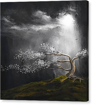 Somber Reflection Canvas Print by Lourry Legarde