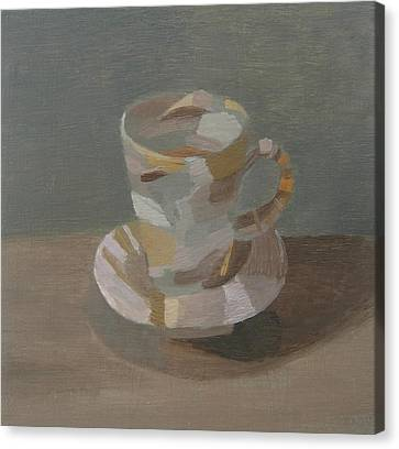 Sombre Cup Canvas Print by Mary Mabbutt