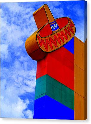 Sombrero Sign Canvas Print by Randall Weidner