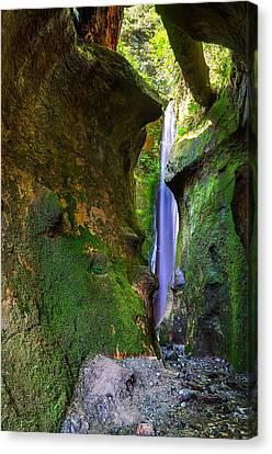Sombrio Beach Waterfall Canvas Print by Heather K Jones