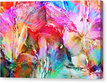 Somebody's Smiling - Abstract Art Canvas Print by Jaison Cianelli