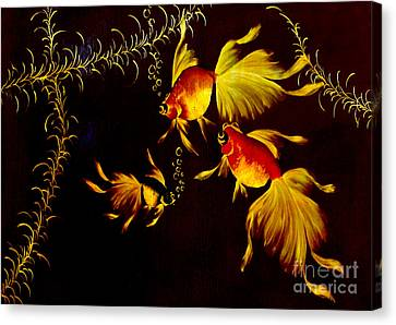 Something Is Fishy Here Canvas Print by Al Bourassa