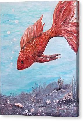 Something Is Fishy Canvas Print by Rhonda Lee