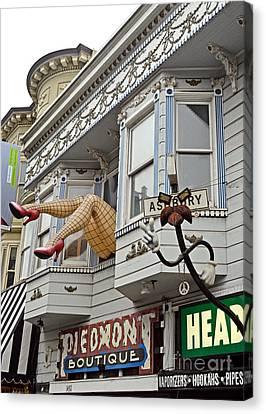 Something To Find Only The In The Haight Ashbury Canvas Print by Jim Fitzpatrick