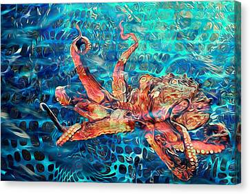 Somethins In The Net Canvas Print by Jack Zulli