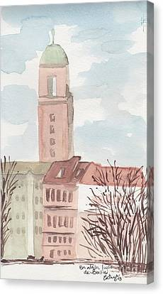 Somewhere In Berlin Canvas Print by Catalina Velasquez