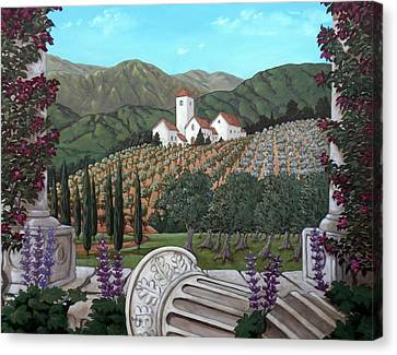 Somewhere In Tuscany Canvas Print by Gerry High