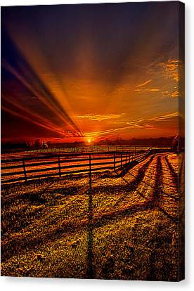 Song Of The Setting Sun Canvas Print by Phil Koch