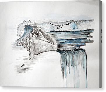Sonido Del Mar Canvas Print by Gladiola Sotomayor