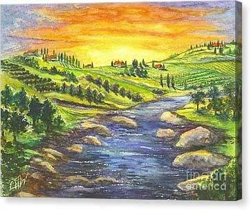 Sonoma Country Canvas Print by Carol Wisniewski
