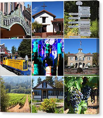 Sonoma County Wine Country 20140906 Canvas Print by Wingsdomain Art and Photography