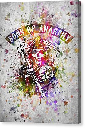 Sons Of Anarchy In Color Canvas Print by Aged Pixel