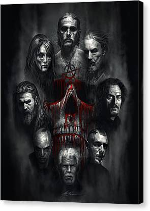 Sons Of Anarchy Tribute Canvas Print by Alex Ruiz