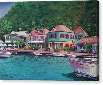 Soper's Hole Tortola  16x23 Canvas Print by John Clark