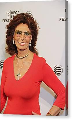Sophia Loren Canvas Print by Manny Zoom