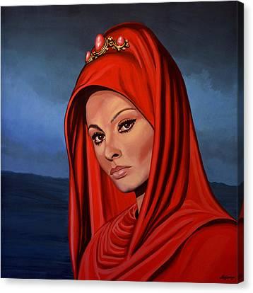 Sophia Loren Canvas Print by Paul Meijering