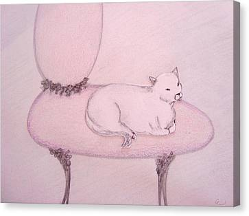 Sophisticated Cat Canvas Print by Christine Corretti