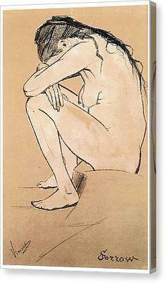 Sorrow Canvas Print by Vincent van Gogh