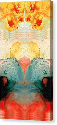 Soul Star - Abstract Art By Sharon Cummings Canvas Print by Sharon Cummings