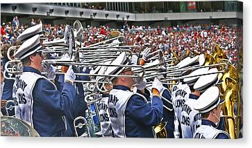 Sounds Of College Football Canvas Print by Tom Gari Gallery-Three-Photography