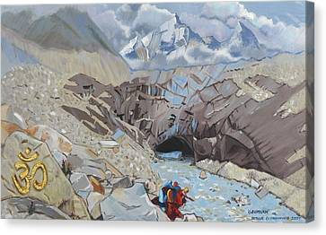 Source Of The Ganges Canvas Print by Arthur Glendinning
