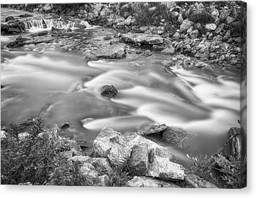 South Boulder Creek Little Waterfalls Rollinsville Bw Canvas Print by James BO  Insogna