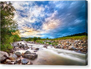 South Boulder Creek Sunset View Rollinsville Colorado Canvas Print by James BO  Insogna