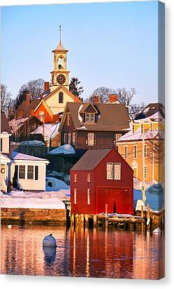 South End Boathouse Canvas Print by Eric Gendron