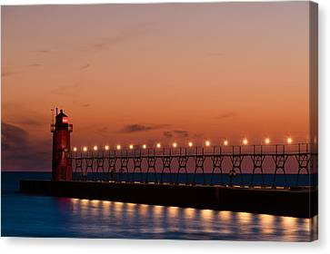 South Haven Reflection Canvas Print by Sebastian Musial