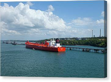 South Hook Lng Terminal, Milford Haven Canvas Print by Panoramic Images