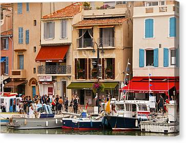 South Of France Fishing Village Canvas Print by Bob Phillips