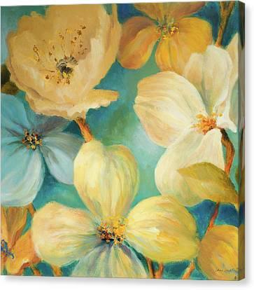 South Sea Lights Floral Square Canvas Print by Lanie Loreth