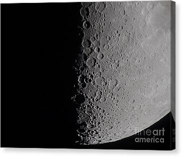 South Terminator Of 7 Day Moon Canvas Print by Alan Dyer