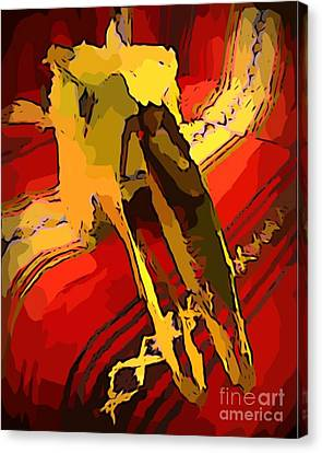 South Western Style Art With A Canadian Moose Skull  Canvas Print by John Malone