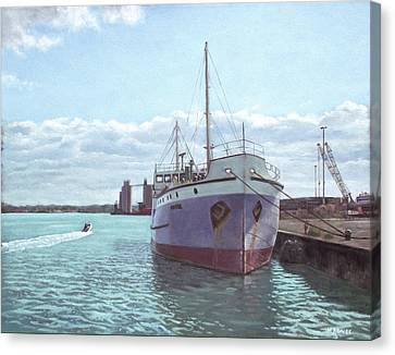 Southampton Docks Ss Shieldhall Ship Canvas Print by Martin Davey